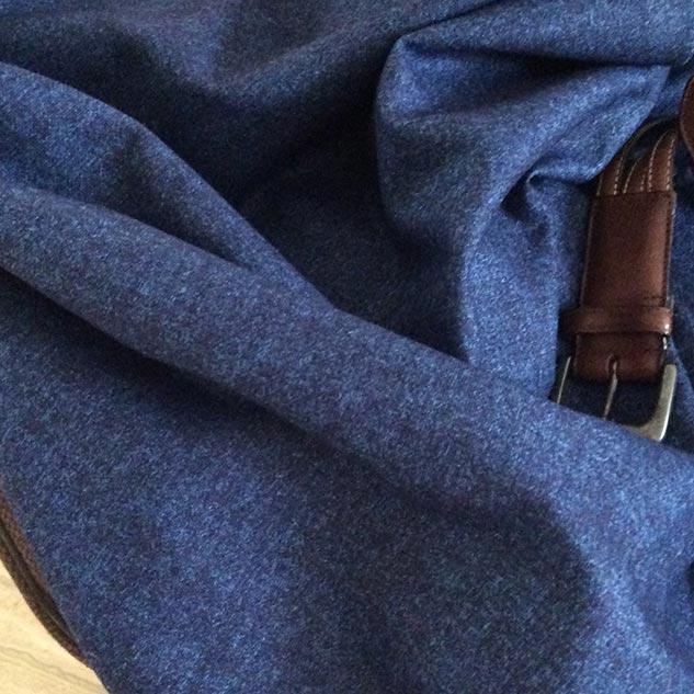tissu faux uni bleu chiné
