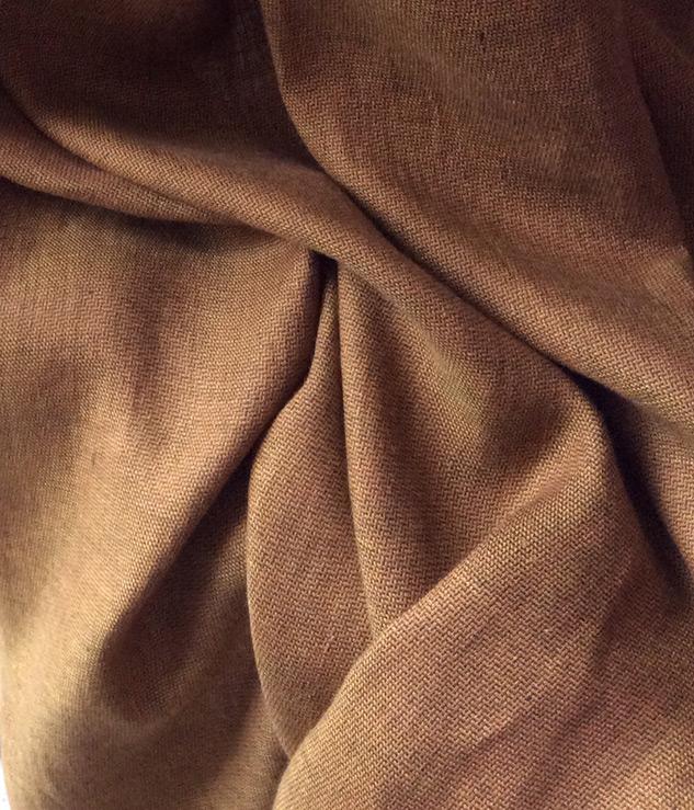 Tissu fil a fil marron