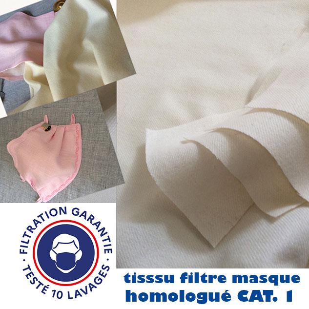 tissu filtre masque