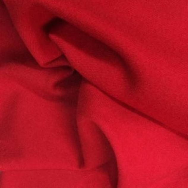 Tissu flanelle de laine tissu rouge