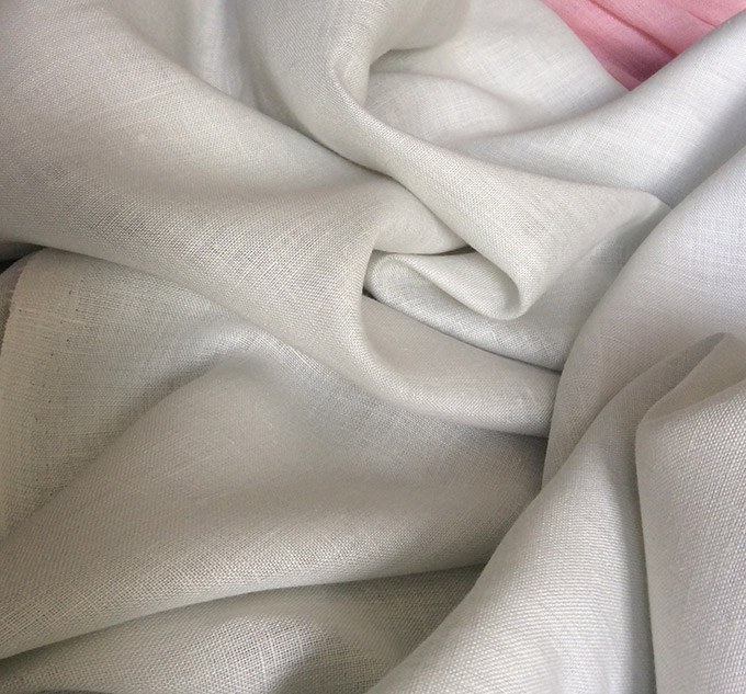 tissu gris perle lin