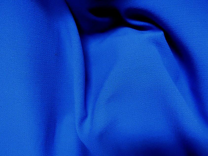Tissu crepe bleu