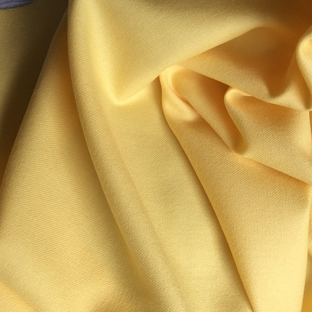 flanelle jaune en laine