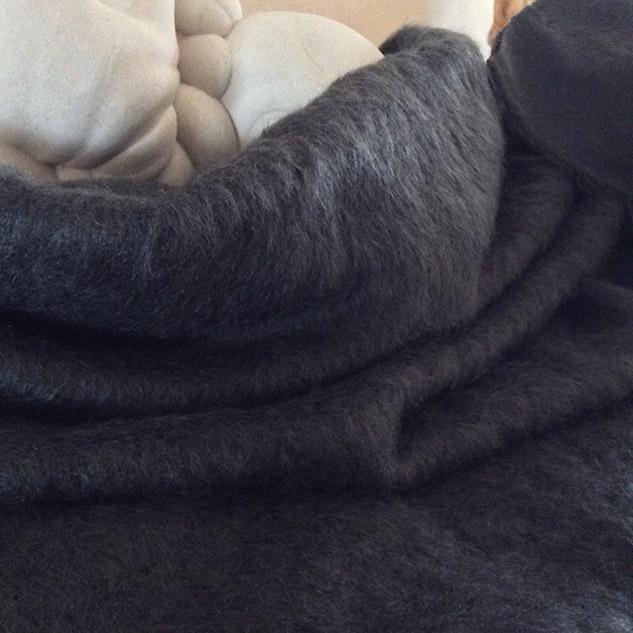 tissu gris mohair