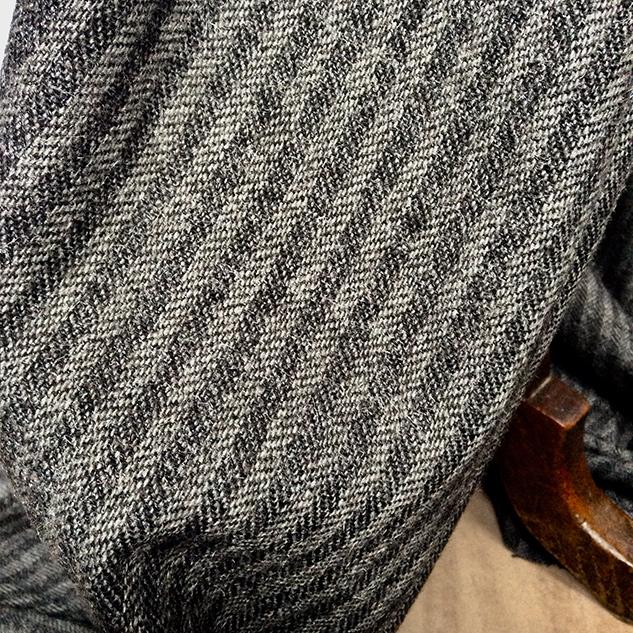 tissu chevron gris