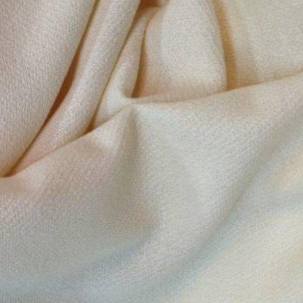 Tissu de laine bouillie écru