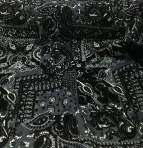 Tissu laine imprimé abstrait