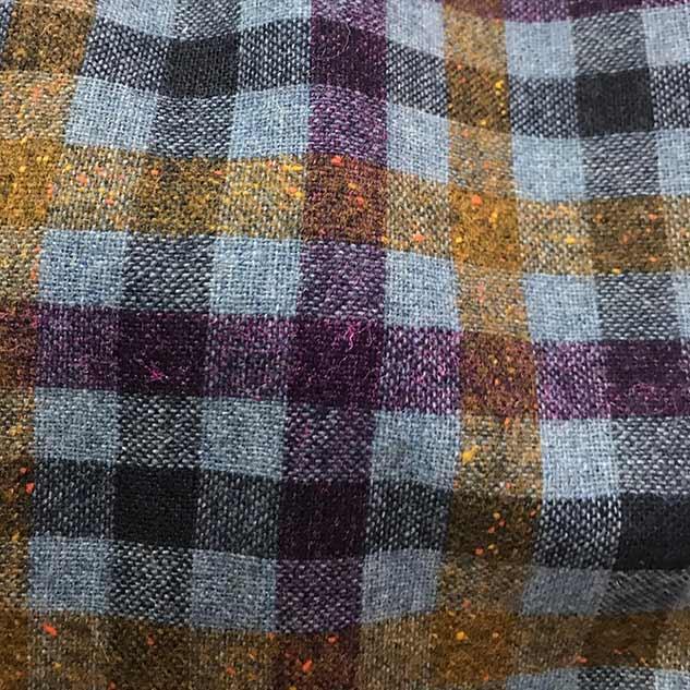 Tissu laine à carreaux cardailhac