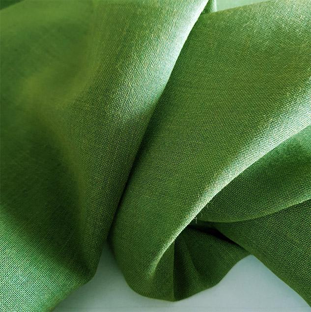 tissu vert prairie voilage