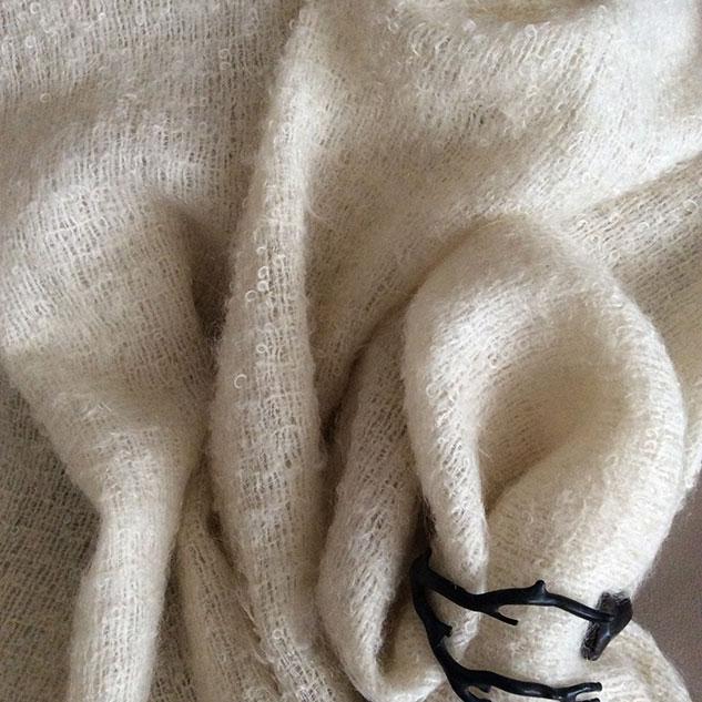 Tissu écru pour cape