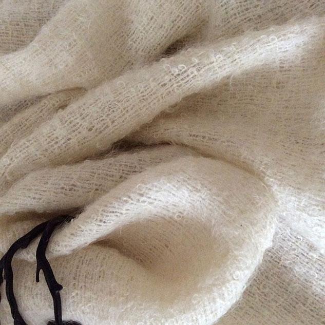 Tissu mohair pour cape mariage