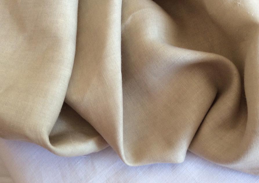 Tissu lin beige pour costume