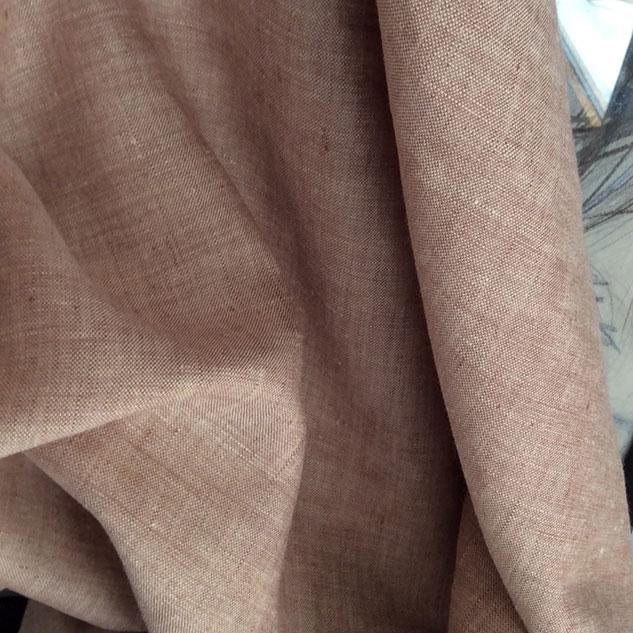 tissu changeant tissu lin beige rosé