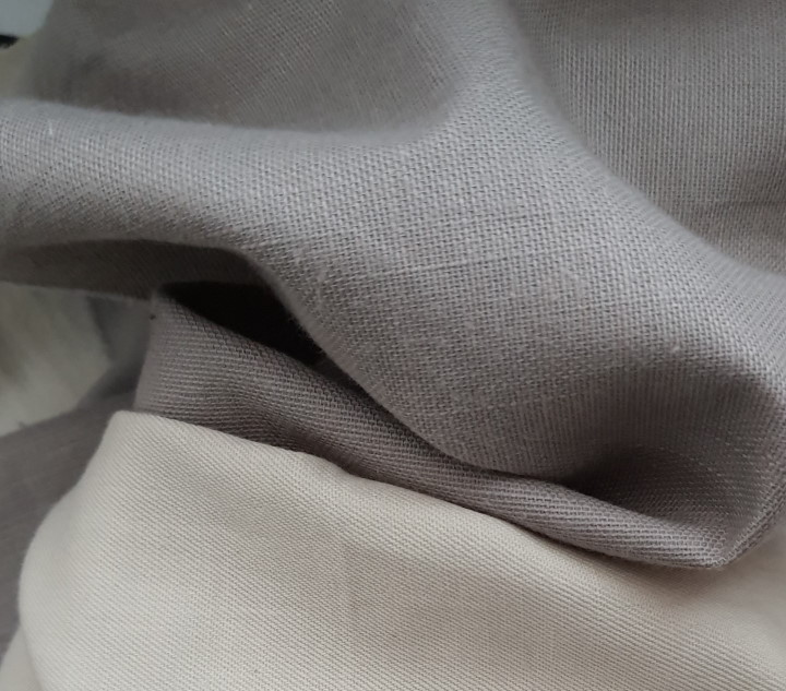 tissu taupe associé beige