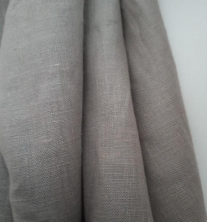 Tissu lin taupe clair