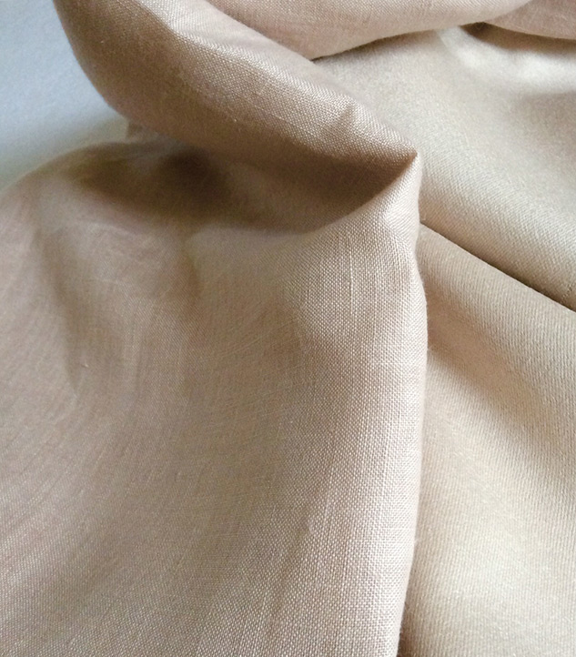 tissu beige en lin ameublement