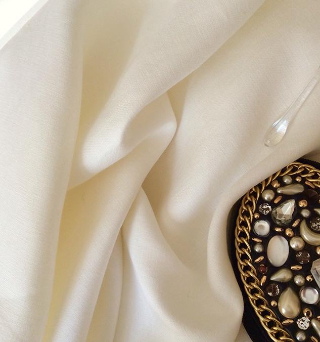 Tissu lin blanc