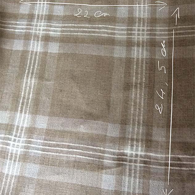 Tissu lin carreaux en lin