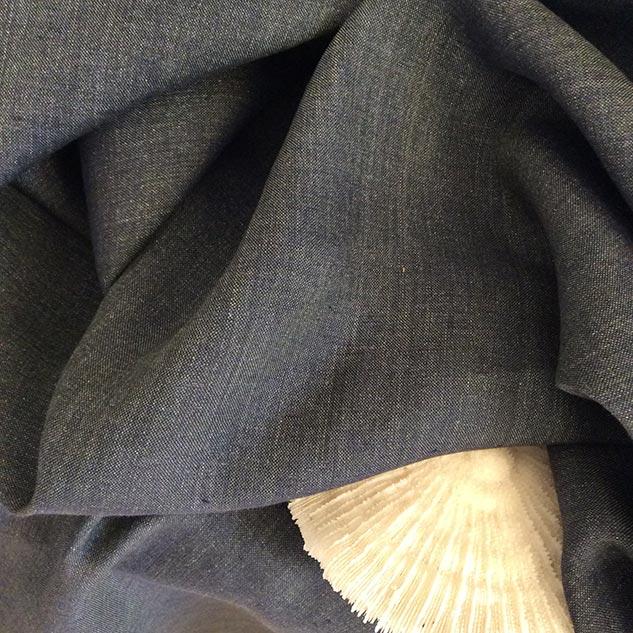 Tissu lin gris delavé