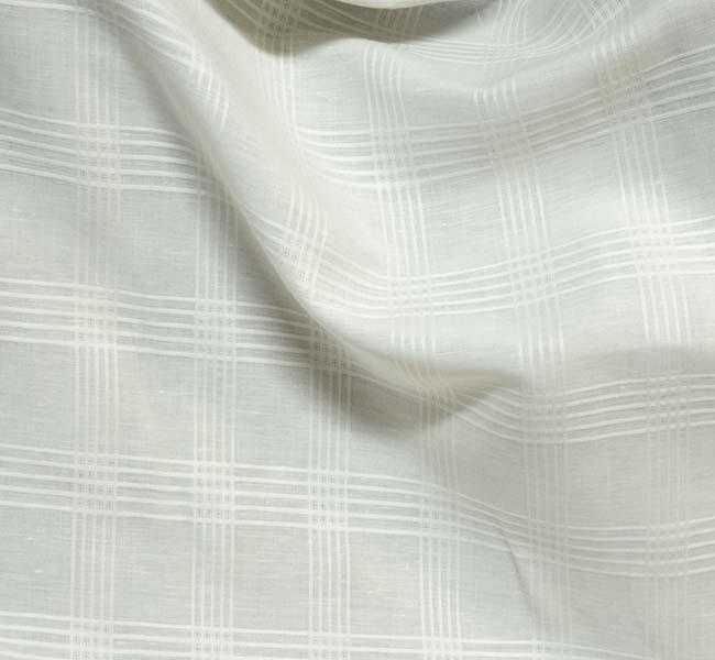 tissu lin coton écru