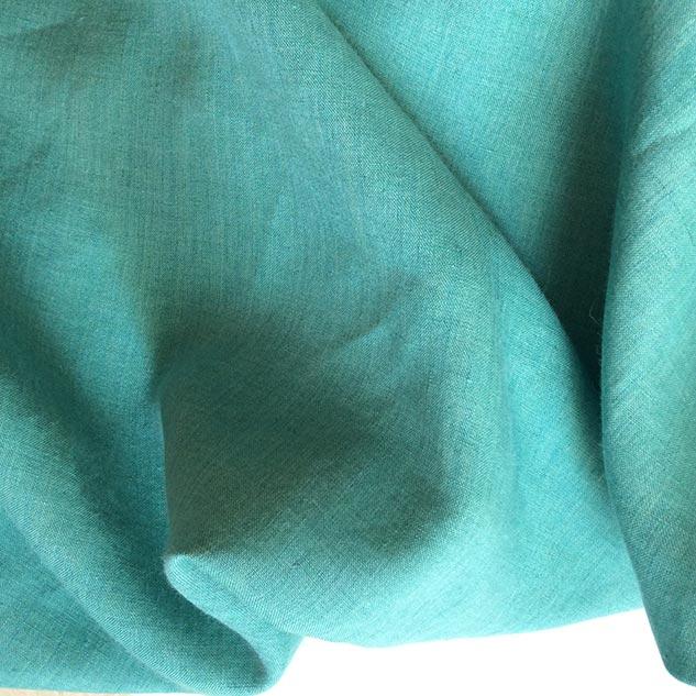 lin vert turquoise au metre