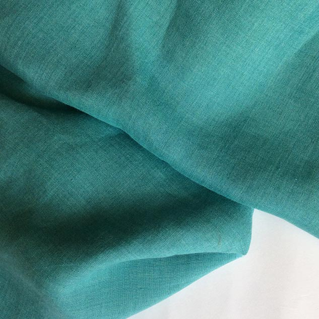 tissu lin vert turquoise au metre