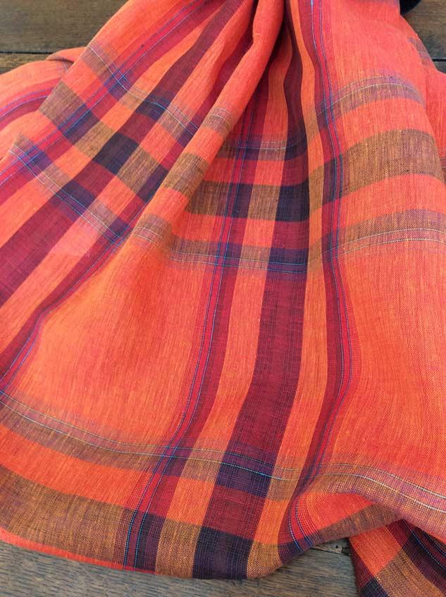 Tissus lin au metre écossais