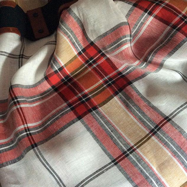 tissu chemisier ecossais