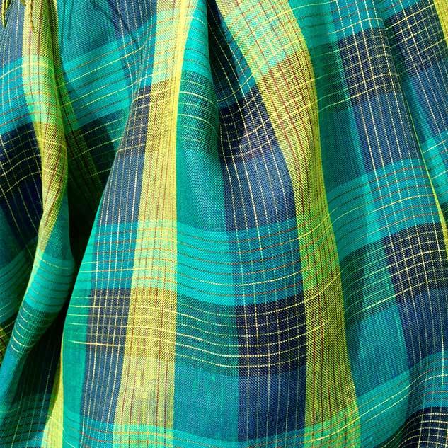 tissu écossais cardailhac turquoise