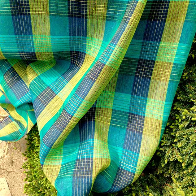 tissu écossais cardailhac vert