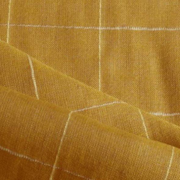 Tissu jaune moutarde à carreaux