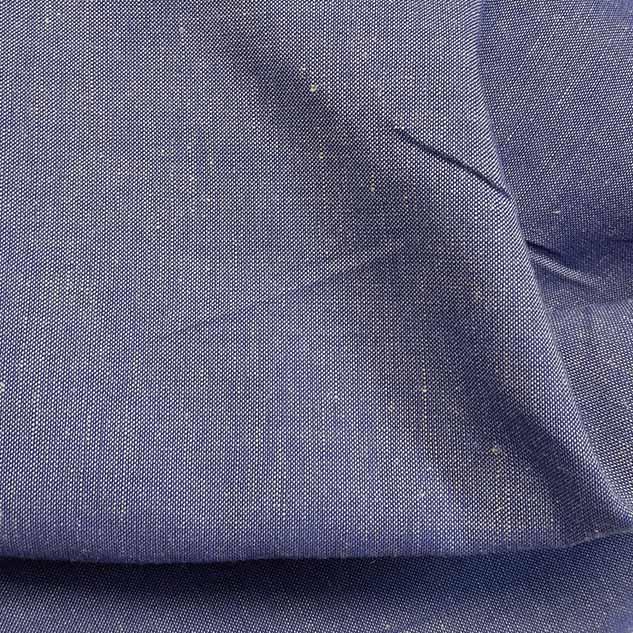 Tissu lin polyester chiné bleu et blanc