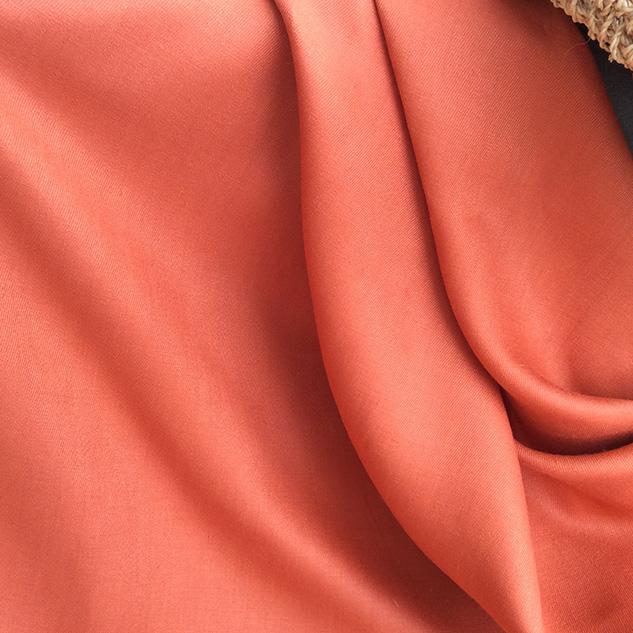 tissu orangé tendance