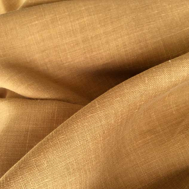 Tissu jaune moutarde couture lin