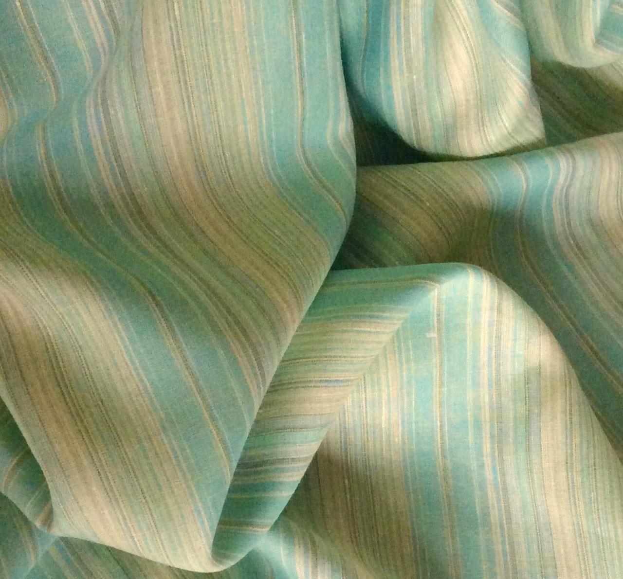 tissu rayé en lin pour voilage