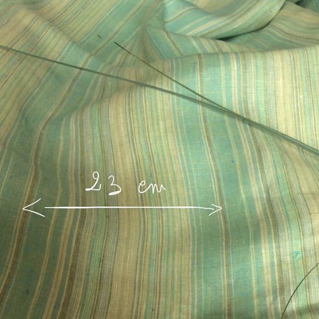 tissu rayé vert pour voilage