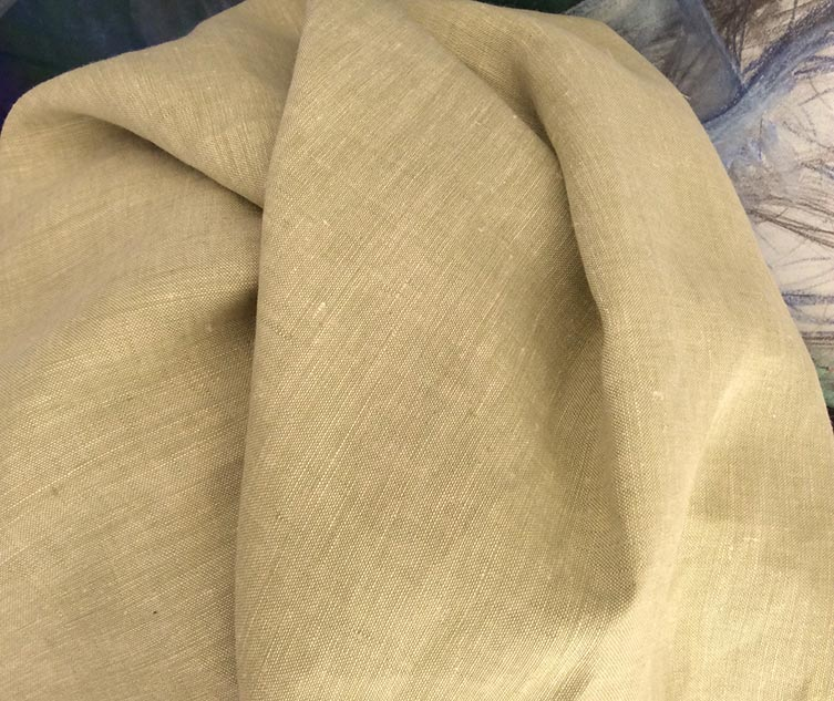 tissu vert tilleul chiné