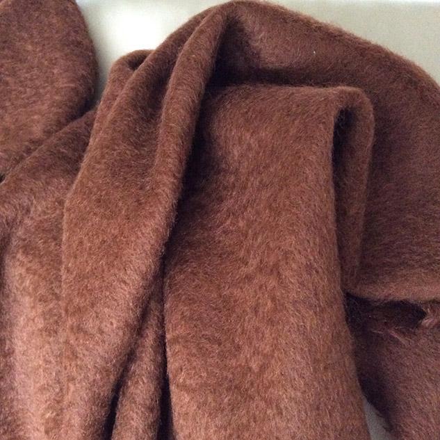 tissu mohair marron