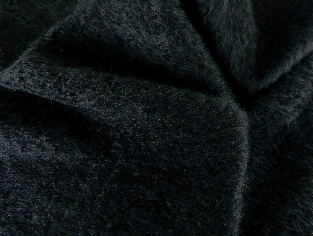 tissu mohair noir à poils sizelés