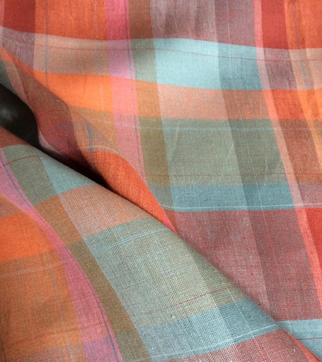 tissu écossais pastel multicolore