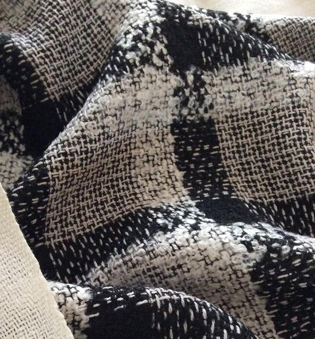 Tissu pour veste au metre noir et blanc