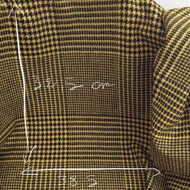 tissu prince de Galles jaune et noir