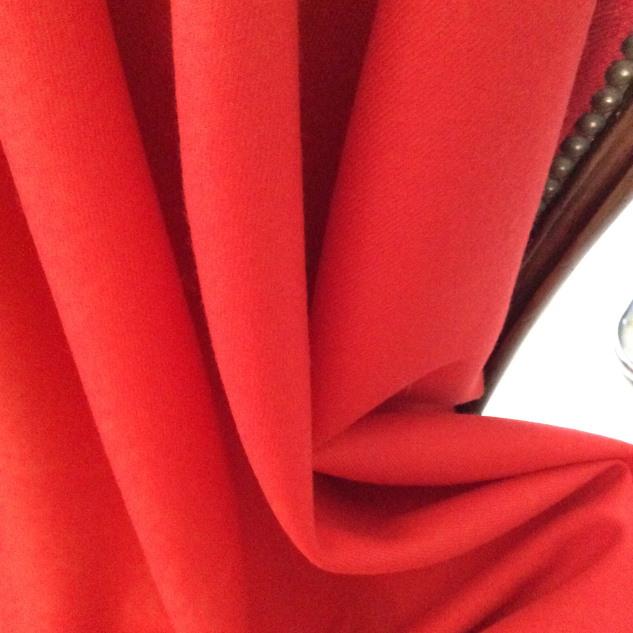 tissu orangé au metre