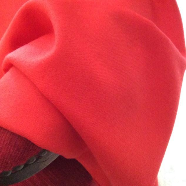 tissu orange pour rideaux