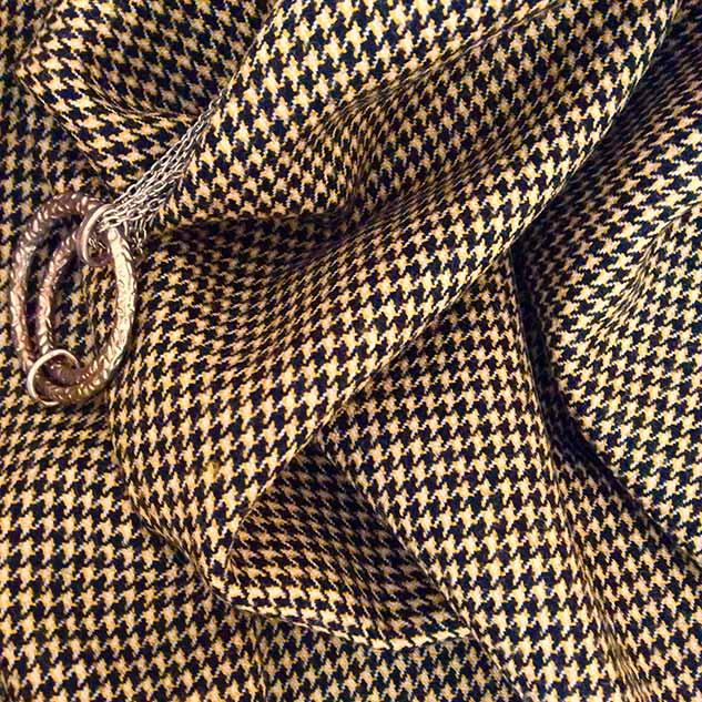 tissu pied de poule noir et jaune