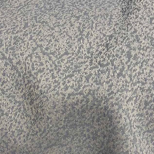 tissu jacquard gris et jaune pale