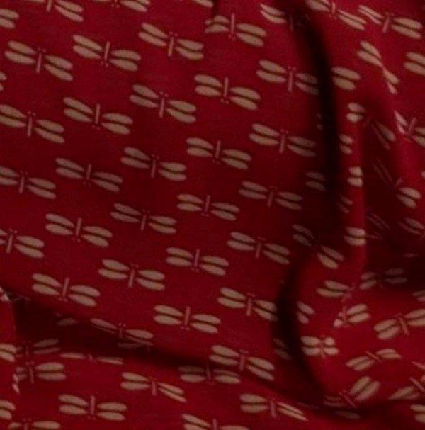 Tissu polyester imprimé papillon pour chemisier