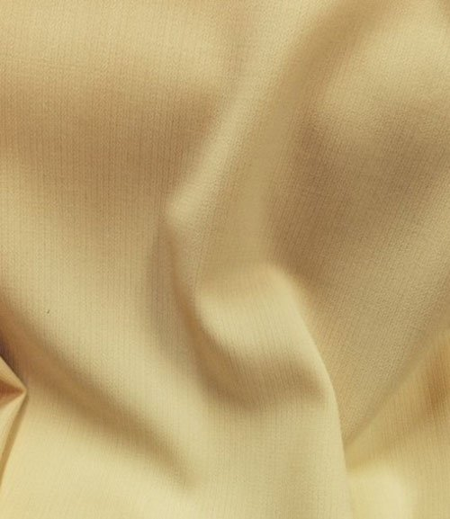 Tissu  polyester-laine crepe jaune