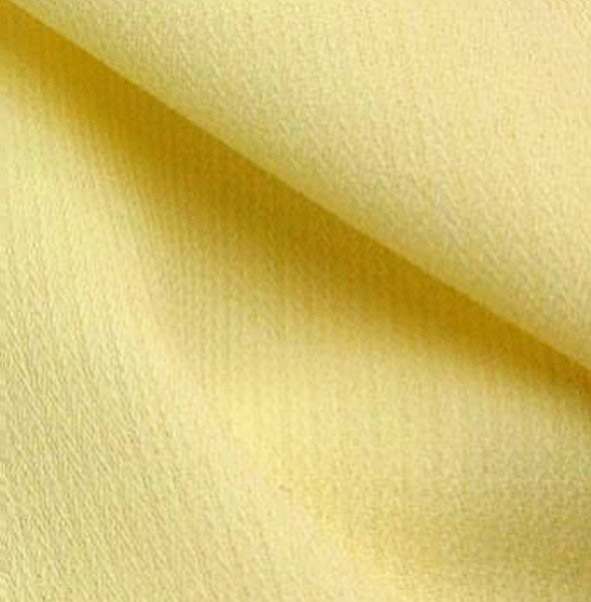 Tissu polyester-laine crêpe jaune pale