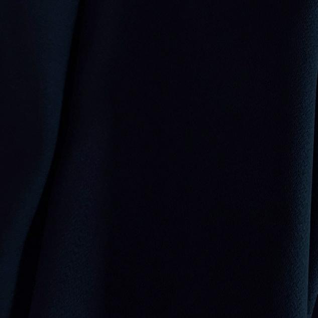 Tissu polyester laine crêpe marine